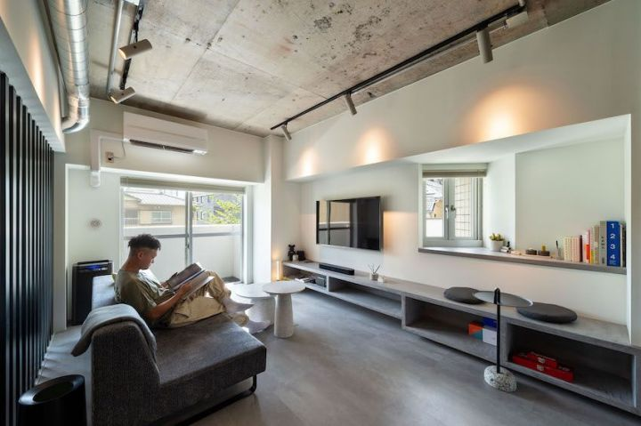 vol.45【リノベ|インタビュー】「ブティックホテル」な自宅が完成。62m2台を広く見せる、ルーバー使い